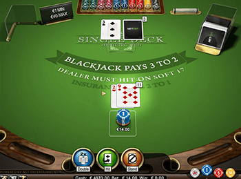 Игровой автомат Single Deck Blackjack Professional Series 4