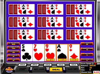 Игровой автомат All American Video Poker Multihand 6